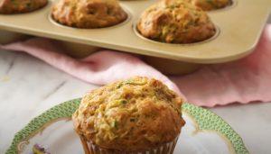 Carrot-Zucchini Yogurt Muffins Recipe