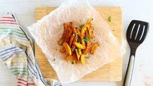 Chinese Five-Spice Air Fryer Butternut Squash Fries Recipe