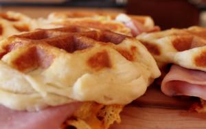 Cinnamon Roll Waffle Breakfast Sandwich Recipe