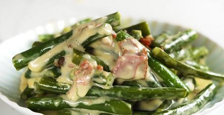 creamy green beans parmesan recipe