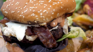 Double-Decker Burgers with Goat Cheese Recipe