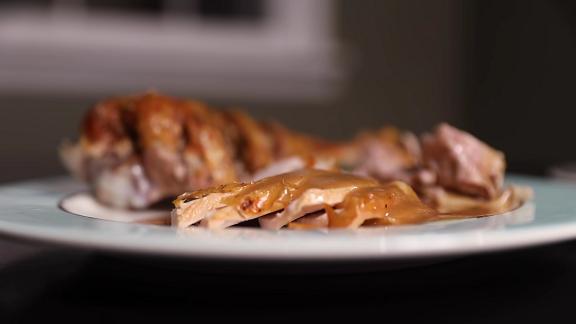 easy high-heat roast turkey with gravy recipe