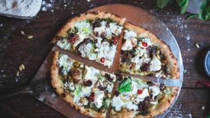 Eggplant, Pesto and Goat Cheese Pizza Recipe