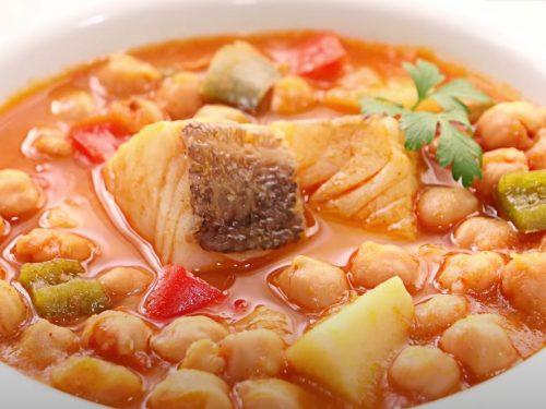garbanzos con bacalao recipe