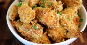 Garlic Parmesan Cheddar Chicken Bites Recipe