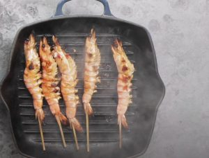 Ginger Shrimp with Charred Tomato Relish Recipe