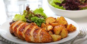 Glazed Honey Balsamic Chicken with Potatoes Recipe