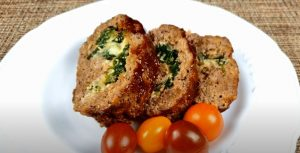 Greek Meatloaf with Spinach and Feta Recipe