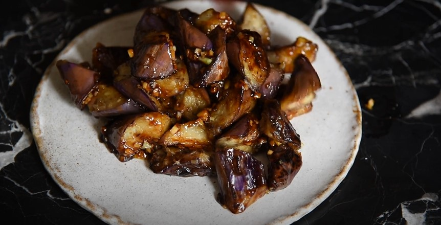 Grilled Asian Eggplant with Ginger Sauce Recipe