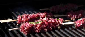 Grilled Asian Garlic Steak Skewers Recipe