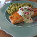grilled salmon with orzo salad recipe