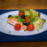 grilled salmon with roasted fennel and tomatoes recipe