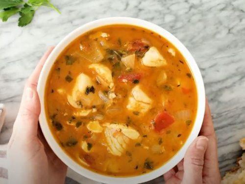 halibut and shellfish soup recipe