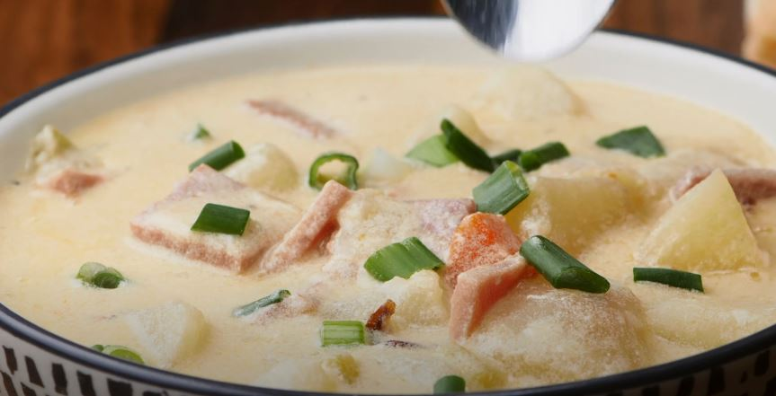 ham and potato cheddar soup recipe