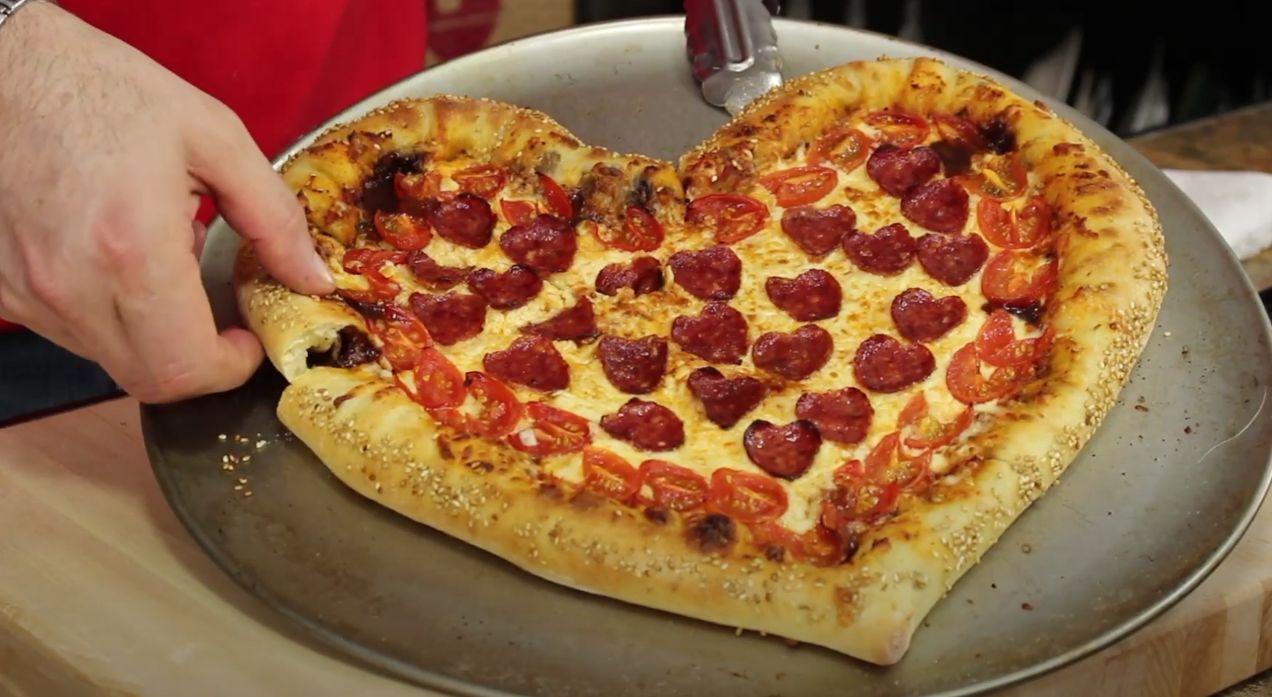 Heart Shaped Pepperoni Pizza Recipe