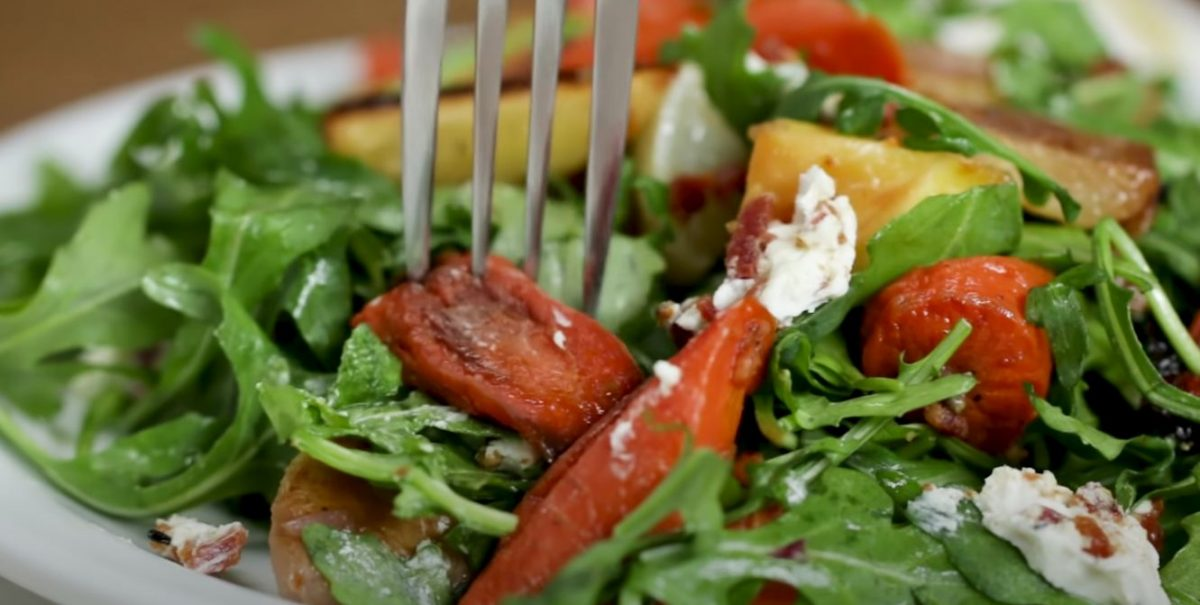 Hearty Winter Vegetable Salad With Black Onion Seed Vinaigrette Recipe