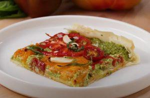 Heirloom Tomato Tart With Vegan Basil Ricotta Recipe