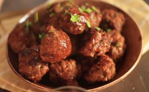 Honey and Bourbon Holiday Meatballs Recipe