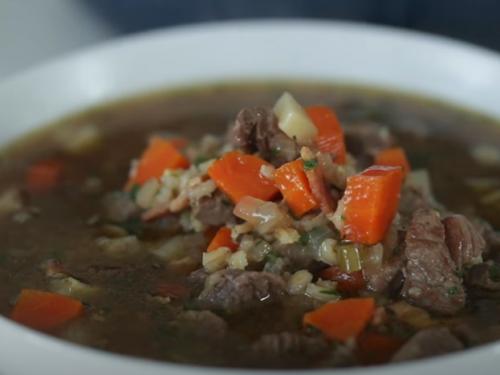 homemade beef barley soup recipe
