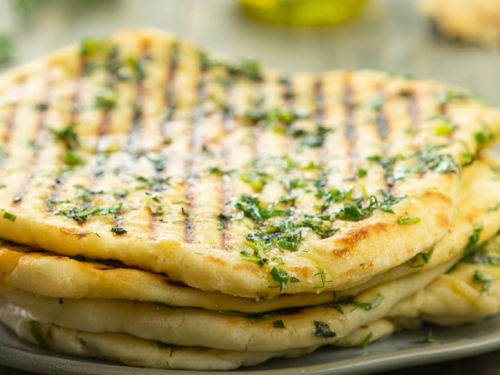 stovetop grilled mint flatbreads recipe