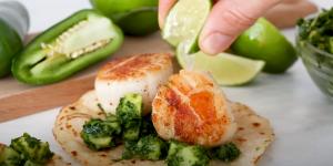 Green Scallop Tacos Recipe