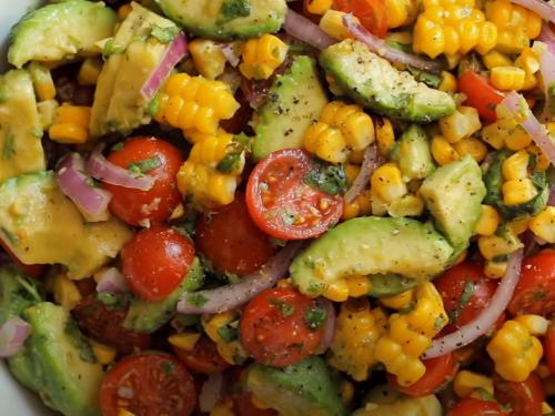 summer salad with avocado recipe