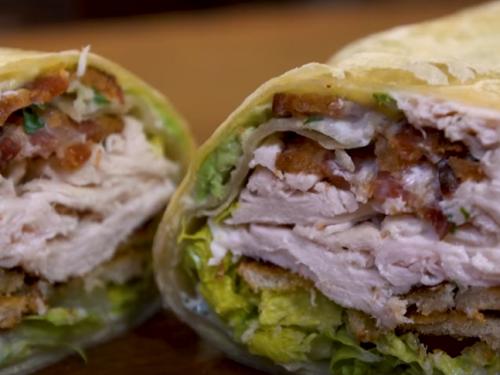 slow cooker chicken caesar salad wraps recipe
