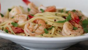 Lemon Shrimp Linguine Recipe