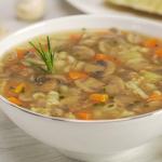 mushroom barley soup with mini meatballs recipe