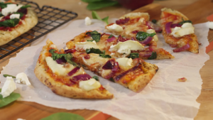 Naan Bread Goat Cheese and Tomato Pizza Recipe