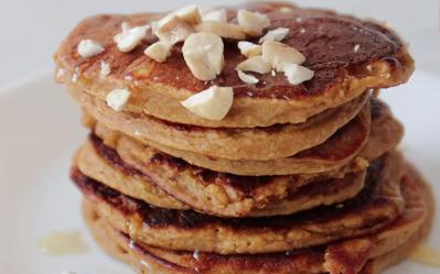 pumpkin oat chocolate chip pancakes recipe