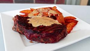 Ribeye Steaks With Creamy Mustard Sauce Recipe