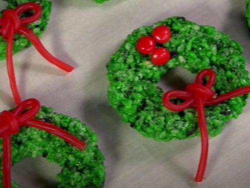 Rice Krispies Wreaths Recipe