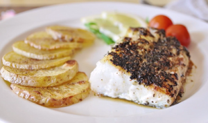 Roasted Cod and Potatoes with Thyme Recipe