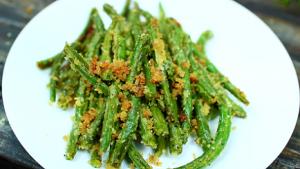 Roasted Green Beans with Garlic, Lemon, Pine Nuts & Parmigiano-Reggiano Recipe