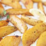 roasted lemon garlic potato wedges recipe