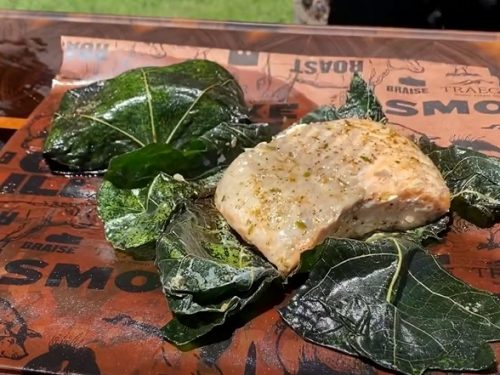 Salmon Wrapped in Fig Leaves Recipe