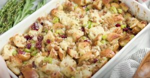 Sausage Stuffing with Fennel, Pine Nuts, and Currants Recipe