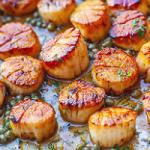seared scallops with spinach risotto recipe
