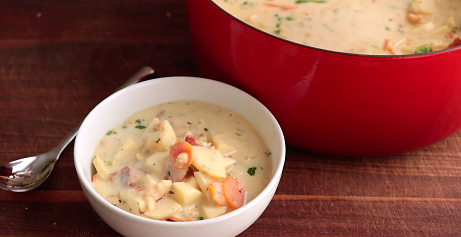 slow cooker clam chowder recipe