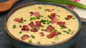 Slow Cooker Ham and Potato Soup Recipe