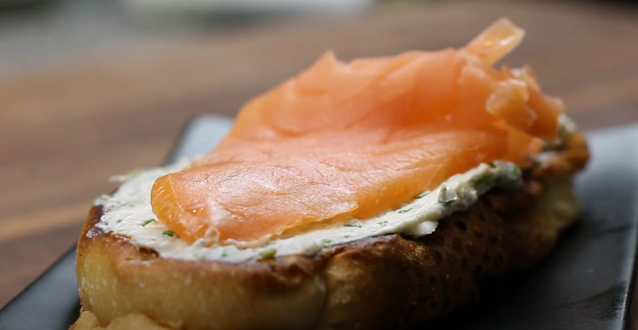 Smoked Salmon with Herbed Goat Cheese and Toast Recipe