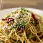 smoked turkey and leeks spaghetti recipe
