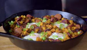 Southwest Baked Ham and Eggs Potato Hash Recipe
