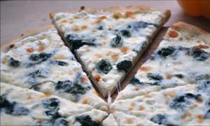 Spinach, Feta & Pine Nut Pizza Recipe