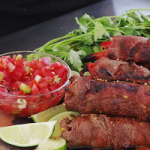 steak fajitas with roquefort