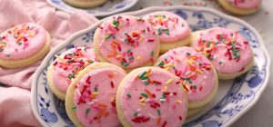 Strawberry Frosted Sugar Cookies Recipe