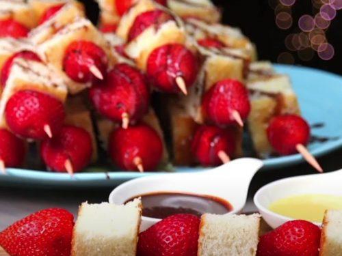 Strawberry Shortcake Kabobs Recipe