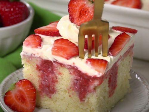 Strawberry Shortcake Poke Cake Recipe