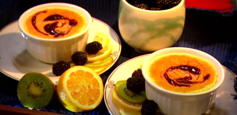 summer blackberry custards recipe